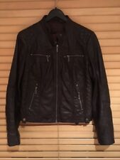 Women's Helium Dark Brown Leather Jacket UK 10-12