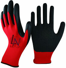 120 XXL RED HAND PROTECTION QUALITY LATEX COATED BUILDERS WORK SAFETY GLOVES