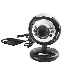 *UK STOCK* USB 6 LED Mega Pixel Webcam Camera & MIC Microphone 4 PC Laptop Skype