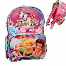 Disney Fairies Tinkerbell Backpack School Library Swim Bag Girls Pink Licensed