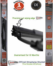 """Streetwize Natural Soft Rubber Performance 24"""" Wiper Blade 12 Month Guarantee"""