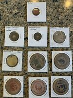Vintage Tokens, Wooden Nickels, Itasca & Freedom 7 Souvenir, OPA Red Pt - 10ea