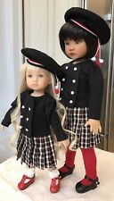"24cm Boneka Dianna Effner Tuesday's Child School Dress + Beret for 10"" Doll ONLY"