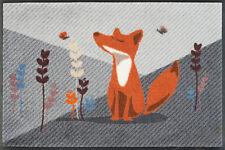 WMK wash+dry Fußmatte Design Füchsin Emma - Fuchs- 50x75 cm 020489