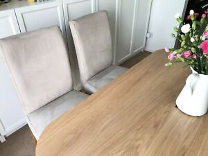 IKEA HENRIKSDAL dining chair with removable cover, oak legs.