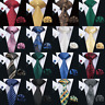 299 Colors Men's Tie Blue Red Black Grey Gold Pink Paisley Solid Silk Necktie