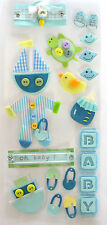 5 Baby boy embellishment stickers, Cardmaking, Crafts, Gifts, Decorations BULK