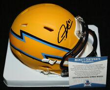 LaDainian Tomlinson signed AMP Mini Helmet, San Diego Chargers, TCU, Beckett BAS