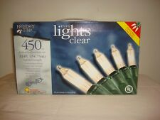 New Holiday Time mini lights clear 450 ct 114ft New in Box