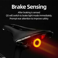 RockBros Bicycle Smart Auto Brake Sensing Light IPx6 Waterproof LED Charging Q5