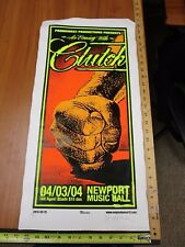 MB/ 2004 Rock Roll Concert Poster Clutch Mike Martin S/N#100