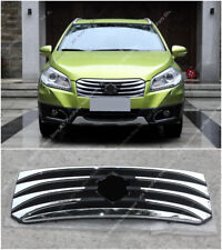 Chrome Front Bumper Middle Grille Grill Mesh For Suzuki S-CROSS SX4 2014-17