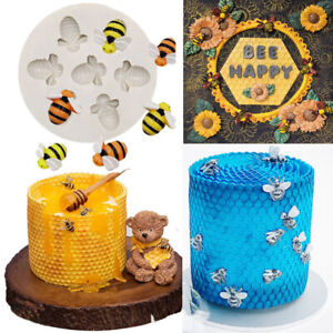 Bee Silicone Mould Cake Decorating Gum Paste Sugar topper Chocolate Animal Mold