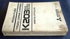 Mitsubishi Fuso K203 Grue Porte-Liste des pièces de rechange Livre 1984 truck catalogue