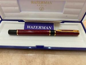 GORGEOUS WATERMAN LAURET ROLLERBALL, IN BOX, RED MARBLE LAQUE, MADE IN FRANCE