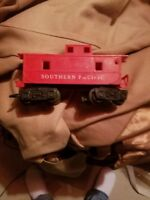 Vintage Louis MARX Southern Pacific Caboose Toy Train Red