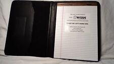Winn Int. 4570 Black Leather Letter Sized Writing Pad