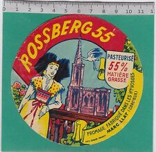 J447 FROMAGE ROSSBERG 55 MARCILLAT HAUTES VOSGES CIGOGNE CATHEDRALE  STRASBOURG