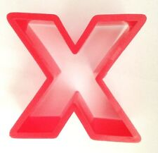 """Red 2 1/4"""" Letter """"X"""" Cookie Cutter Art Mold"""