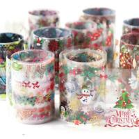 10X Nail Foils Sticker Starry Christmas Theme Nail Art Stickers Decal Manicure