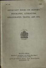 Maggs Brothers Books on History, Biography, Literature, Bibliography, Travel Art