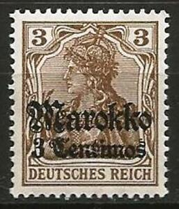 Germany Foreign Post Offices Morocco 1911 MH - 3 C on 3 Pf Deutsches Reich Mi-46