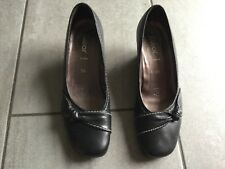Gabor Fashion Ladies Black Wedge Shoes Size 5 1/2. Great Condition.