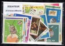 Equateur - Ecuador 25 timbres différents oblitérés