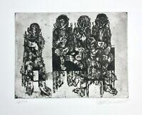 Hanno Edelmann (1923-2013) signierte Radierung, figürliche Komposition, 1965
