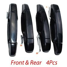 Set of 4 Outer Exterior Door Handle Black Front &Rear For Chevrolet GMC Cadillac