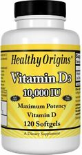Vitamin D3 by Healthy Origins, 120 softgels 10000 IU