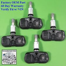 Set of 4 Accord CRV TIRE PRESSURE SENSOR TPMS OEM 42753-SWA-A53 20 deg SET-TS30
