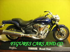 MOTO 1/18 YAMAHA  XV 1600 ROAD STAR WARRIOR  VIOLET 2002 MAJORETTE