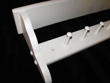 Wooden coat peg rack Shaker style 7 peg PAINTED WHITE peg rails shaker pegs