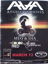 ANGELS & AIRWAVES 2008 SAN DIEGO CONCERT TOUR POSTER - Blink 182, Box Car Racer