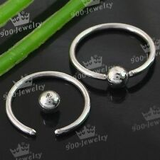 Eyebrow Lip Nose Ring Hoop Stainless Steel Body Piercing Jewelry 10Pcs Cool