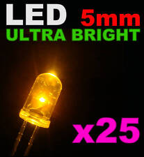 415/25# LED ultra Bright Jaune 5mm 25pcs + résistance 4000mcd