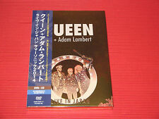 QUEEN ADAM LAMBERT LIVE IN JAPAN 2014   JAPAN DVD + CD SET (Mirror Coat Case)