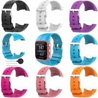 Silicona Pulsera Banda Correa para Polar M400 M430 GPS Running Watch 10-Colors