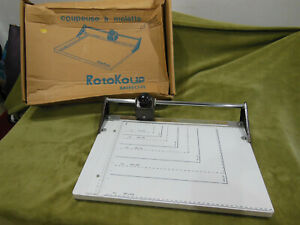 Rotokoup Rotary Blade Paper Photo Cutter /Coupeuse a molette