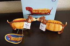 Hot Diggity! Mustard & Ketchup Magnetic Salt & Pepper Shakers