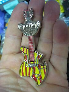 NEW Hard Rock Cafe HRC Guitar Bottle Opener Magnet / St. Maarten / Yellow & Red