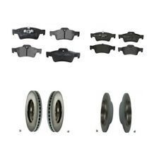 For Mercedes W164 W251 ML320 R500 Front & Rear Disc Brake Rotors Set with Pads B