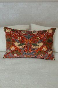 William Morris Rouen Velvet Strawberry Cushion Cover Double Sided