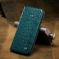 Luxury Genuine Cow Leather Wallet Flip Case Cover For Samsung Galaxy Phone