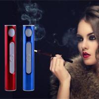 Rechargeable Lighter Plasma Windproof USB Electric Flameless Cigarette Lighter D