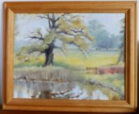 Oil Oil Painting of Boarhunt Hampshire by M W Phillips signed