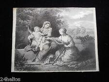 """Gravure anciennne """"Vierge à l'enfant""""  18ème / old engraving French / Louis XVI"""