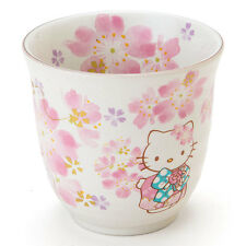 JAPAN Limited! Hello Kitty SAKURA Teacup Bowl Yunomi flower Porcelain Sanrio NEW