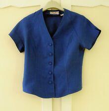 Chemisier ALAIN FIGARET T 38 forme veste en lin Bleu Roy